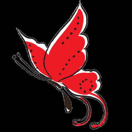 Opera Mariposa red swallowtail butterfly icon